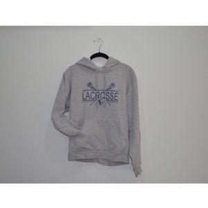 Grey Lacrosse Hoodie